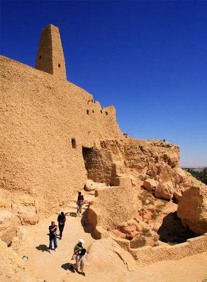 Parte del complejo de Aghurmi, en el oasis de Siwa, donde se encuentran los restos del templo de Amón.