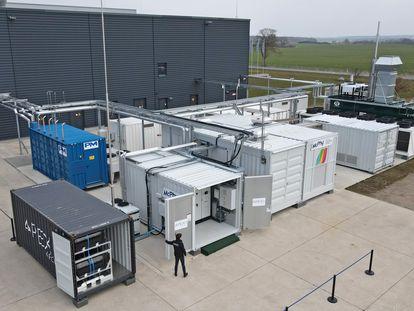 Planta de hidrógeno de Laage (noreste de Alemania), en una imagen aérea tomada el pasado 24 de marzo.