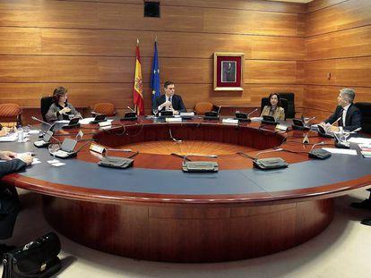 Reunión del Consejo de Ministros del pasado martes en La Moncloa.