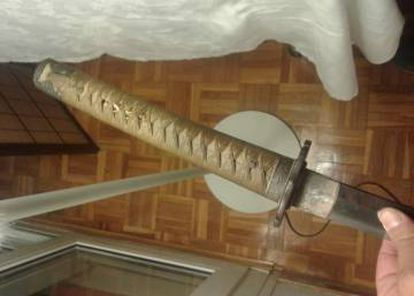 La espada de samurái.