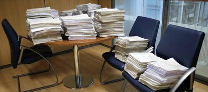 Casos sobre las cláusulas suelo almacenados en un juzgado especializado en dichas causas.
