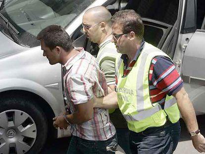 Héctor Fabio Franco llega a los juzgados de Las Américas (Tenerife) el pasado viernes.