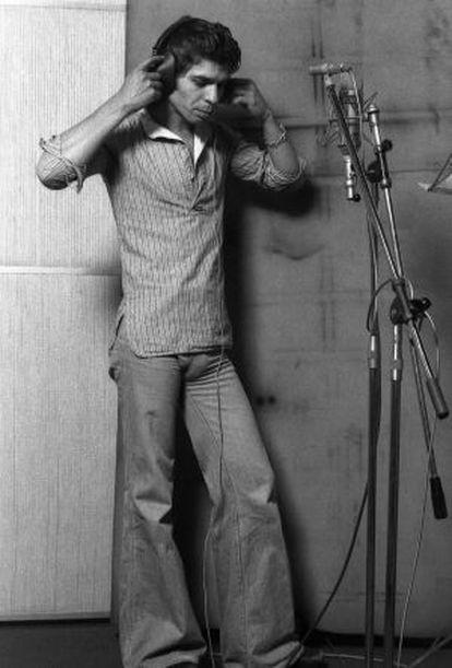 Camarón de la Isla, durante la grabación de 'La leyenda del tiempo', retratado por el productor Mario Pacheco.