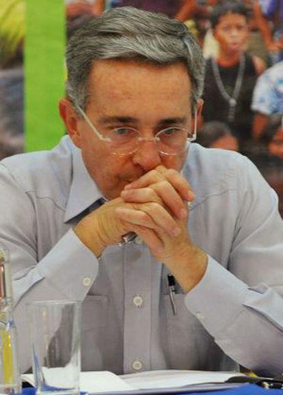 El expresidente de Colombia Álvaro Uribe, en 2010.