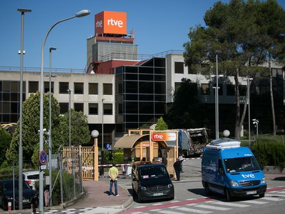 Las instalaciones de RTVE en Sant Cugat del Vallés (Barcelona).