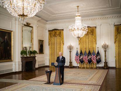 El presidente estadounidense Joe Biden en la Casa Blanca el pasado 18 de agosto.