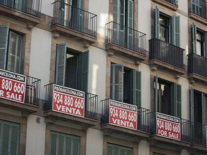 Pisos en venta en Barcelona, en una imagen de archivo.