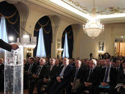 Apertura del Spain Investors' Day. En primer plano, el ministro de Exteriores en funciones, José Manuel García Margallo.