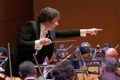 Gustavo Dudamel en el Walt Disney Concert Hall, en Los Ángeles, el 29 de septiembre.