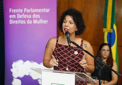 La diputada Áurea Carolina de Freitas Silva en un acto parlamentario el año pasado. Pablo Valadares / Cámara de los Diputados