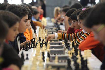 Campeonato de ajedrez en Ourense.