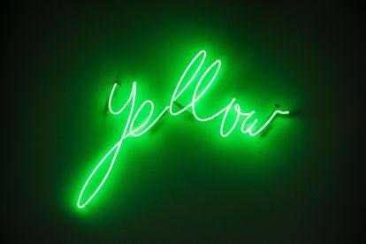 Vista de 'Yellow', una instalación del artista francés Bertrand Lavier que forma parte de la exposición inaugural de la Colección Pinault, en París.