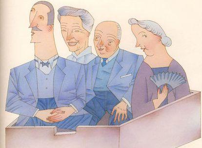 Dibujo de Miguel Calatayud, premio Nacional de Ilustración 2009, para <i>Libro de las M&#39;Alicias</i> (Kalandraka).