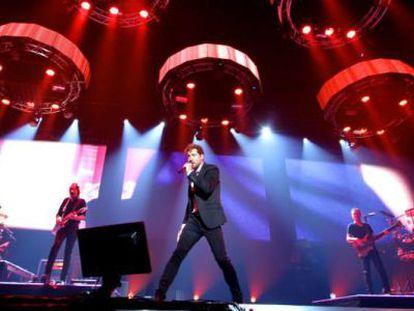 David Bisbal, durante uno de sus conciertos de la gira 'Tu y yo'.