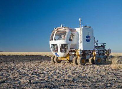 Prototipo del Rover Eléctrico Lunar que está desarrollando la NASA.