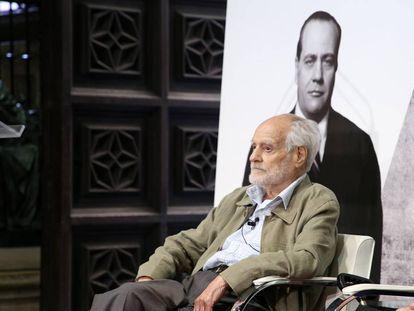 Patricio Azcárate durante el homenaje tributado por la Generalitat a Juan Negrín en mayo de 2017.