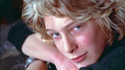 Fotograma de Björn Andrésen en la película El chico más guapo del mundo.