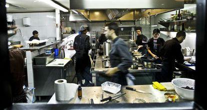 Comedor del restaurante DiverXo, en la calle Pensamiento 28.