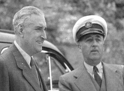 Antonio de Oliveira Salazar y Francisco Franco.
