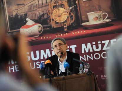Orhan Pamuk, durante la presentación del Museo de la Inocencia en Estambul, en abril de 2012.