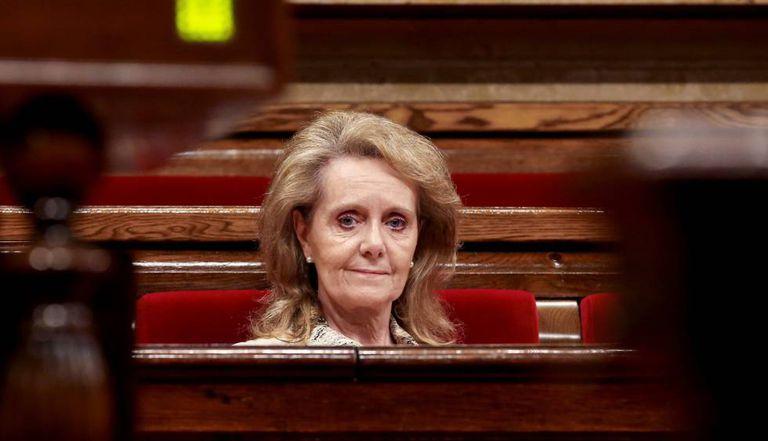 La exconsejera de Cultura, Mariàngela Vilallonga, en el Parlament.