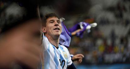 Messi, tras el triunfo en los penaltis frente a Holanda.