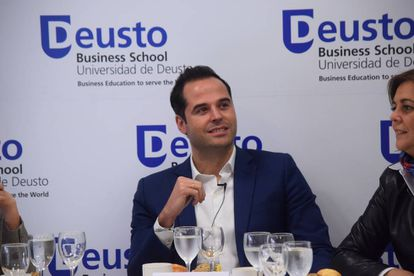 Ignacio Aguado, durante su conferencia.