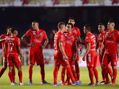 Los jugadores del Veracruz, en agosto pasado.