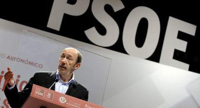 El secretario general del PSOE, Alfredo Pérez Rubalcaba, el pasado sábado.