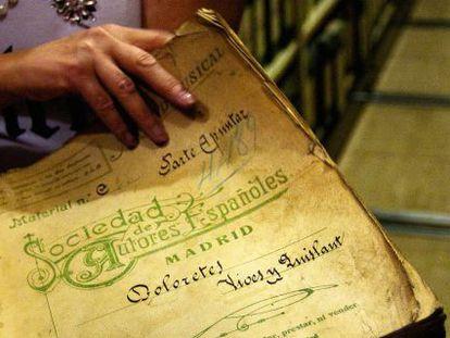 El documento original de la zarzuela 'Doloretes', de Vives y Quislant, de 1901.