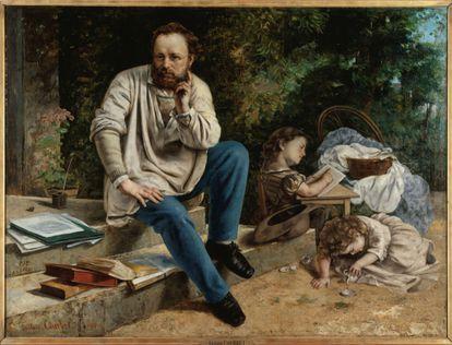 'Retrato de Proudhon y sus hijos' (1865), de Gustave Courbet.