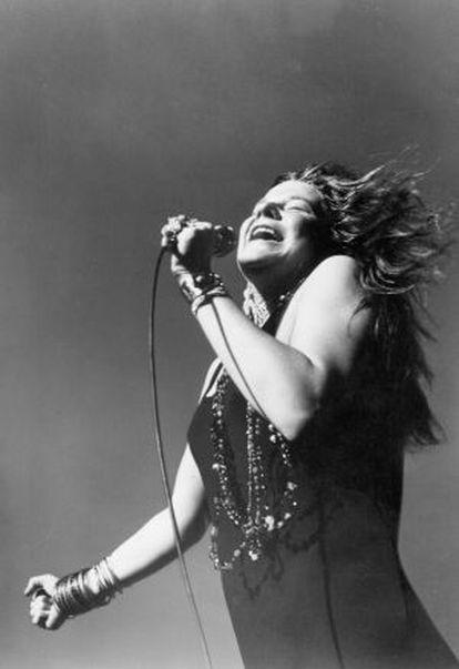 Janis Joplin, en un concierto en mayo de 1968.