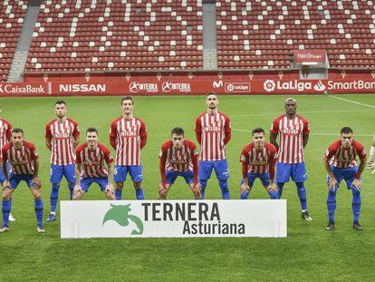Los jugadores del Sporting de Gijón esta temporada.