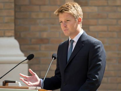 Hugh Grosvenor, duque de Westminster, en un discurso en Nottinghamshire en 2018.