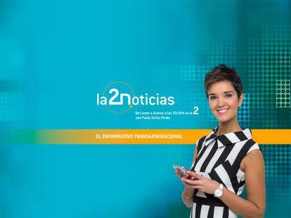 Paula Sáinz-Pardo en el anuncio de 'La 2 Noticias'.
