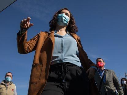 La candidata del Partido Popular, Isabel Diaz Ayuso, ha planteadao las elecciones a la Comunidad de Madrid como una disyuntiva entre comunismo o libertad.