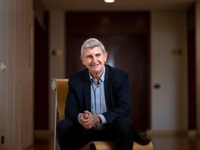 José Manuel Pérez Tornero, presidente de RTVE, en las instalaciones de Prado del Rey, el miércoles.