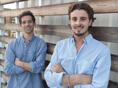 Iago Sanmartín (izquierda) y Sebastian Wornham, fundadores de Monkey Markets.