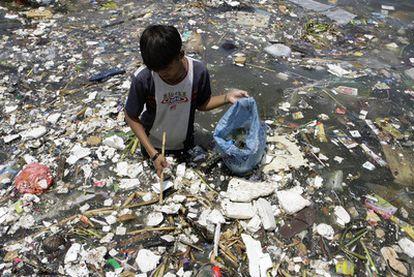 Imagen tomada en la costa de Manila en 2008.