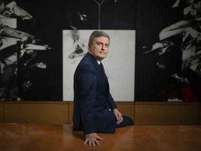 Pedro Saura, secretario de Estado de Transportes, Movilidad y Agenda Urbana, este lunes en Madrid.