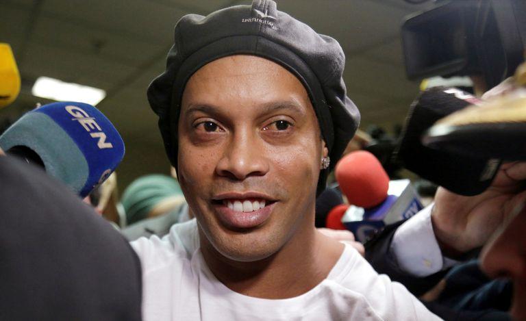Ronaldinho, en marzo, a su salida de la Corte Suprema en Asunción, Paraguay.
