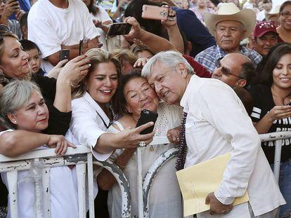 Andres Manuel Lopez Obrador, en un acto en Sonora esta semana.
