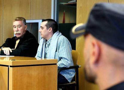 Bruno H., conocido como el descuartizador de Majadahonda, este lunes en el inicio del juicio.