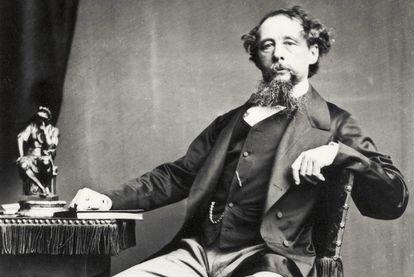 El escritor Charles Dickens, de quien se recuerdan los 150 años de su muerte.