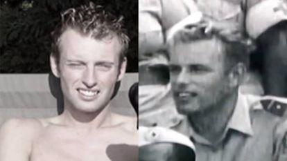 A la izquierda, Joey Hoofdman, presunto hijo de Jan Karbaat. A la derecha, el médico en una imagen de joven.