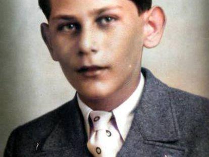 Jirí Popper, con el pin de la Real Sociedad.