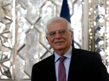 Josep Borrell, el pasado lunes, en Teherán.