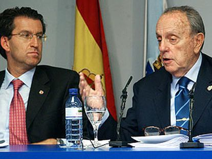 Alberto Núñez Feijóo y  Manuel Fraga, en una imagen de archivo.