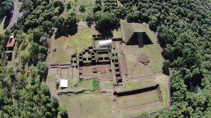 Sitio arqueológico de Tingambato, Michoacán.
