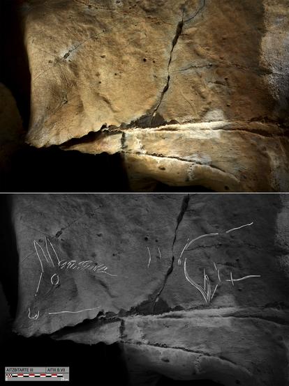 Las representaciones de las extremidades de los animales no tenían  perspectiva ni profundidad. / O. Rivero y D. Garate